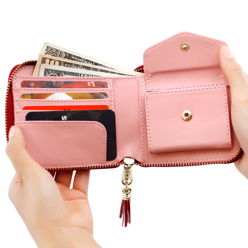 Oct17 Fashion Womens Leather Coin Mini Wallet Case Card Holder Zip Purse Handbag