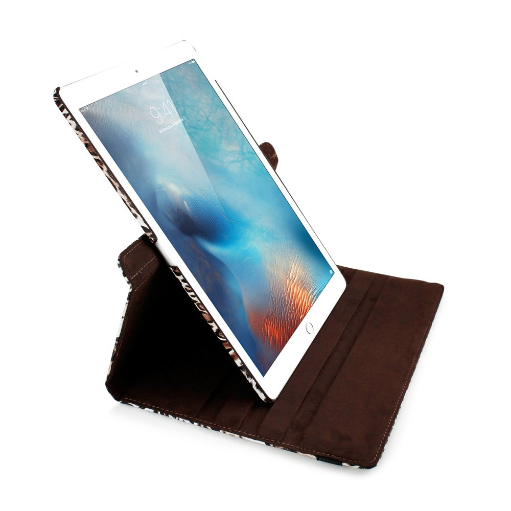 GEARONIC TM 360 Degree Rotating PU Leather Case with Sleeping Function Smart Stand Swivel Cover for iPad Pro