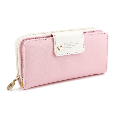 GEARONIC TM Fashion Lady Women PU Leather Cute Buckle Clutch Wallet Long Card Holder Case Purse Handbag