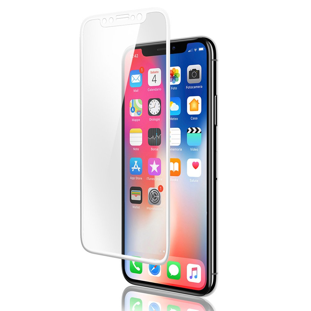 OCT17 Screen Protector Glass Premium Tempered Glass Film Cover Compatible with Apple iPhone X 10 5.8 Inch - Full Coverage 3D Edge to Edge Protection 9H Hardness