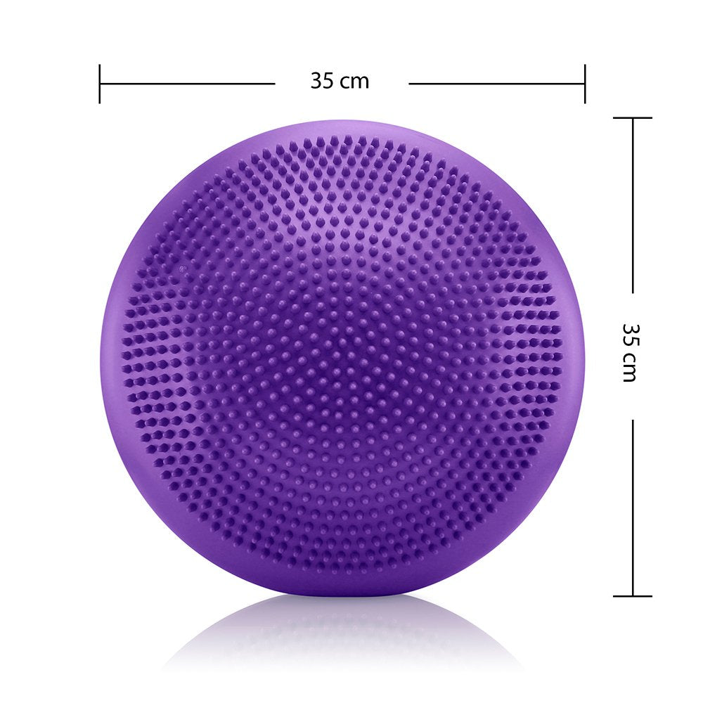 Oct17 Inflated Stability Balance Wobble Cushion, Including Free Pump/Exercise Fitness Core Yoga Air Balance Disc Pad