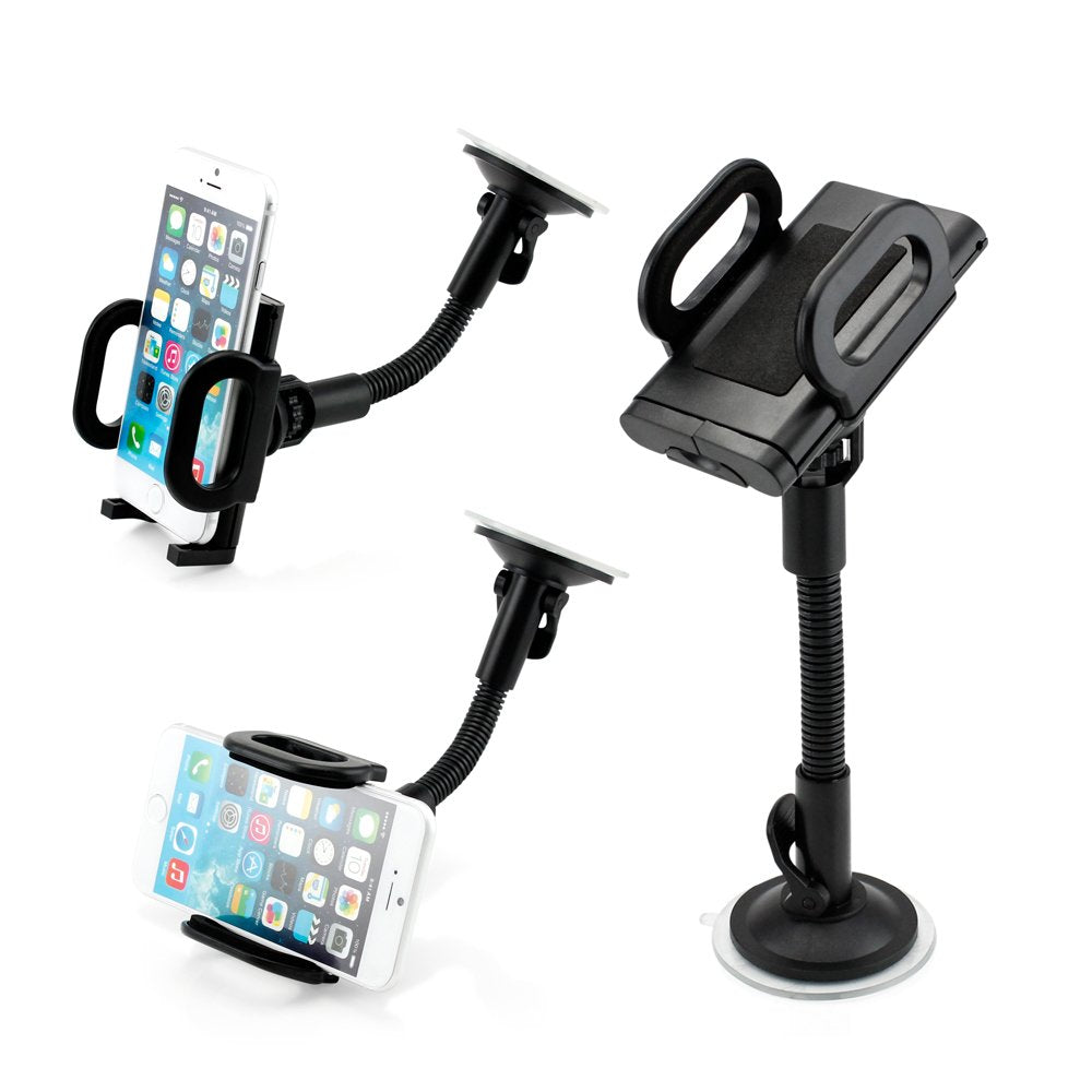 GEARONIC TM Universal I Shape Windshield Car Mount Holder Bracket Compatible with Smart Cell GPS PDA