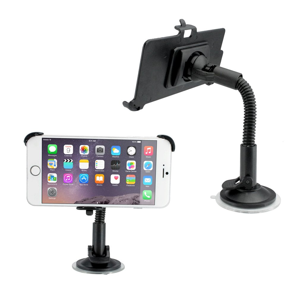 GEARONIC TM Car Vehicle Windshield Adjustable Dashboard Mount Rotating Stand Holder with Suction Cup Compatible with Apple iPhone 6 Plus 5.5