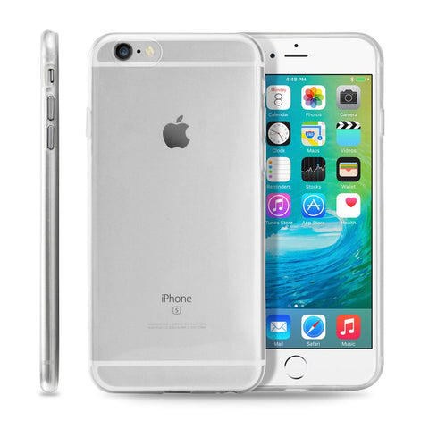 GEARONIC TM Ultra Thin Clear TPU Transparent Clear Skin Case Cover Apple iPhone 6 / 6S Plus 5.5 - Clear