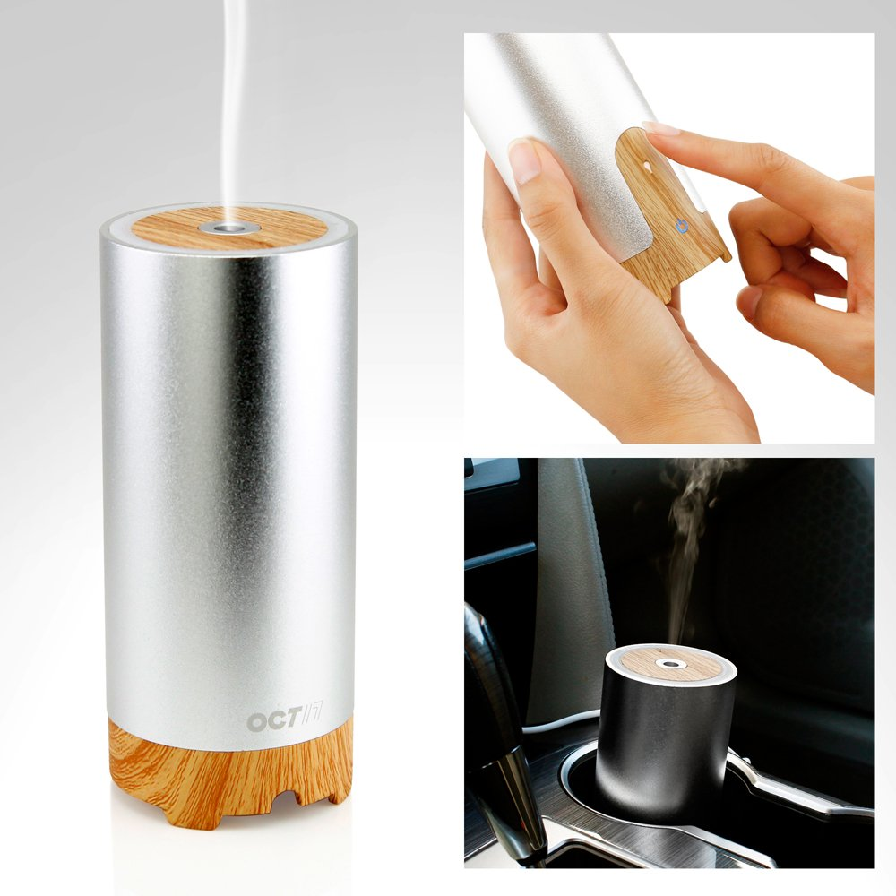 Car essential oil diffuser aroma Cup Holder Small Travel Size 40 ml Fan-less USB
