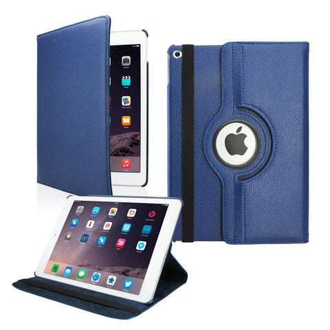 GEARONIC TM For Apple iPad 5 Air 2 2014 360 Degree Rotating PU Leather Case Cover With Swivel Stand - Black