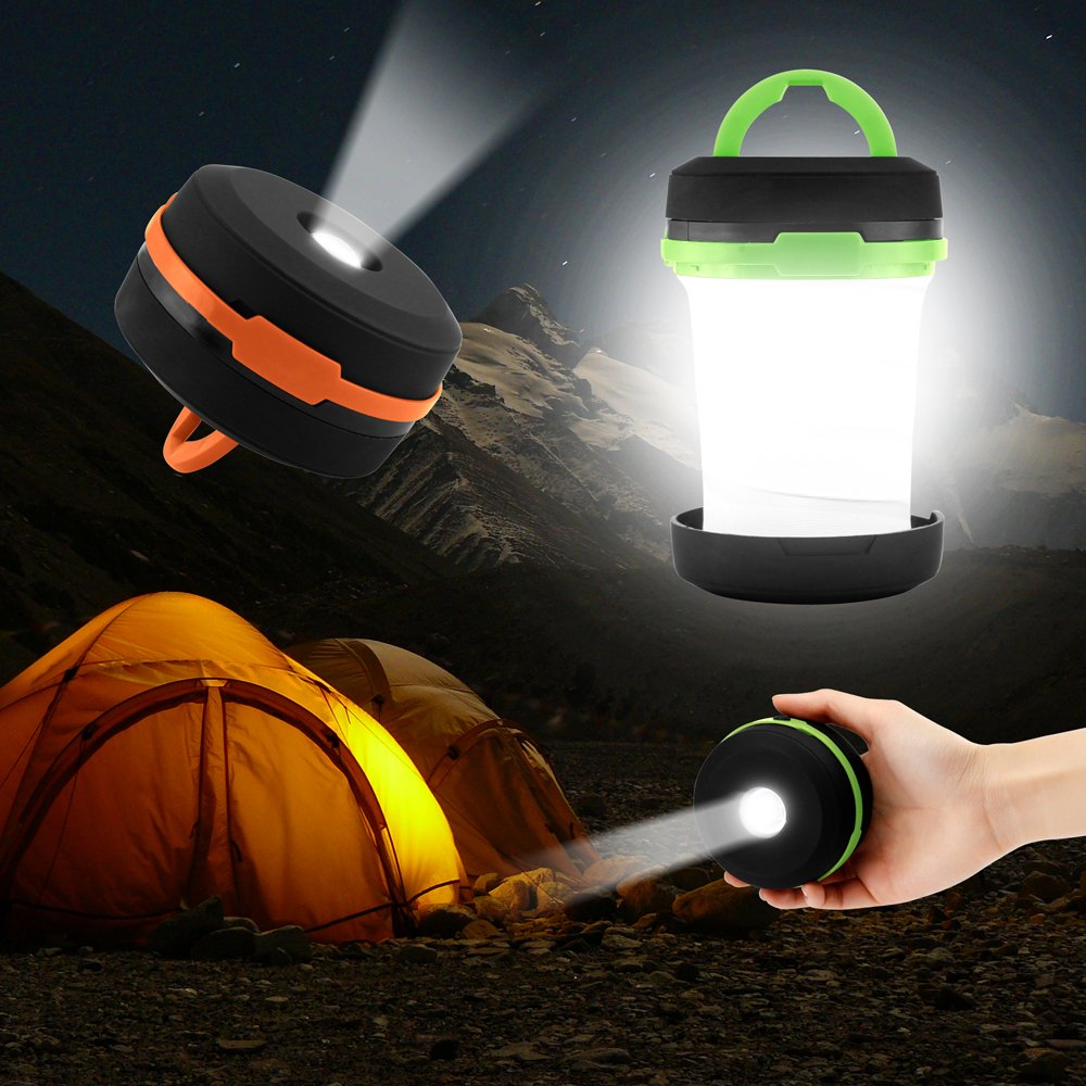 Oct17 Camping Portable LED Light Foldable Collapsible Lantern Flashlight Outdoor Lamp Hiking Lantern
