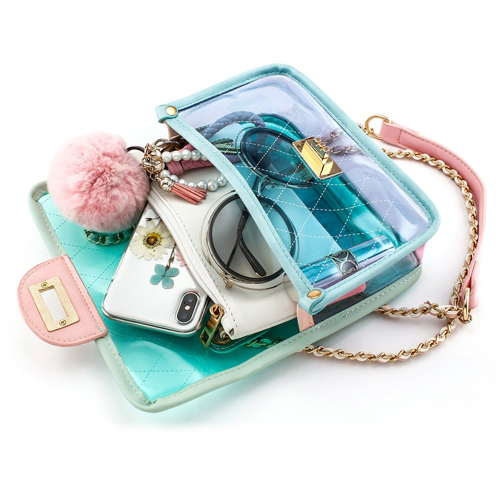 OCT17 Women Transparent PVC Plastic Cross body Durable Summer Shoulder Bag