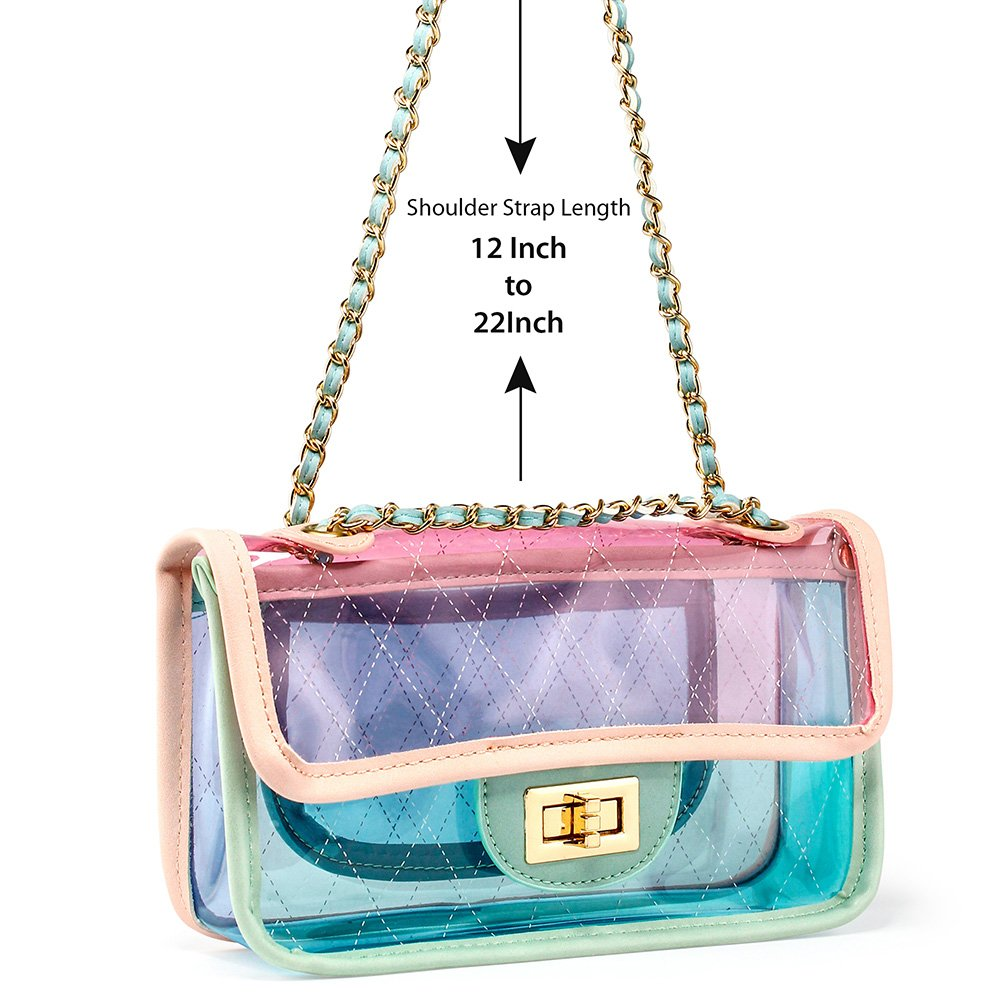 eea41937e27c OCT17 Women Transparent PVC Plastic Cross body Durable Summer Shoulder Bag