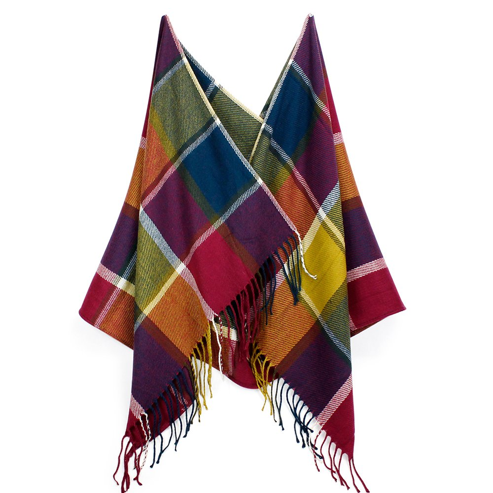 OCT17 Plaid Scarf Women Pashmina Wrap Large Warm Soft Shawl Winter Fall Scarves