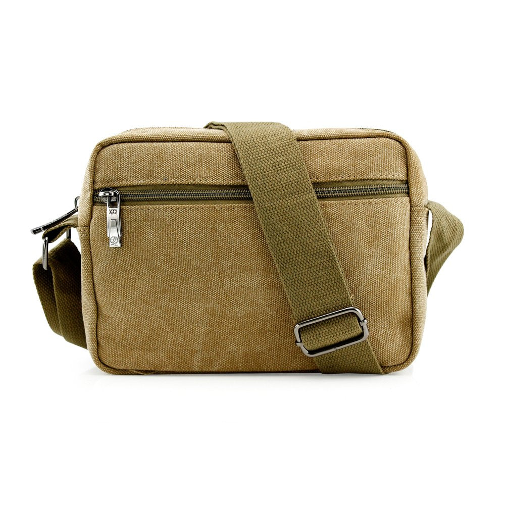 GEARONIC TM Men Vintage Crossbody Canvas Messenger Shoulder Bag School Hiking Military Travel Satchel