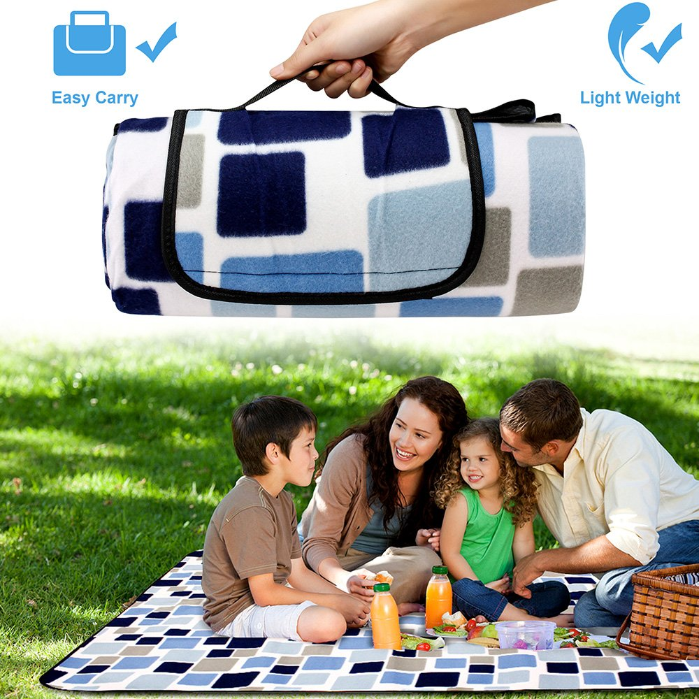 Oct17 Extra Large Picnic Blanket Outdoor Water-Resistant Foldable Beach Mat Sleeping Pads for Camping Hiking Rug Spring Summer Grass