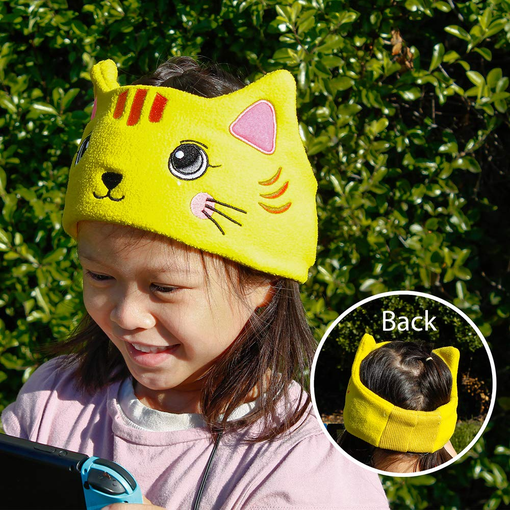 OCT17 Kids Headphones Soft Flexible Fleece Headband Children's Earphones for School Home Travel