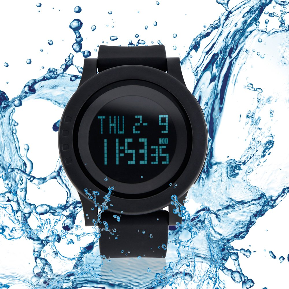 Digital Waterproof Sports Watch Electronic Military LED Sport Running Watch Multifunction Wrist Stopwatch