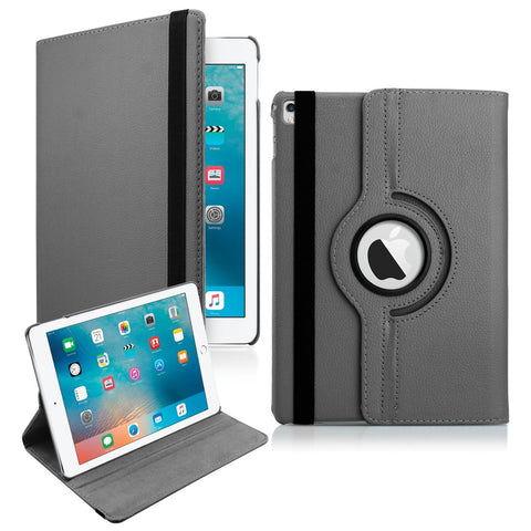 "GEARONIC TM for 2016 Apple iPad Pro 9.7"" 360 Degree Rotating Stand Smart Cover PU Leather Swivel Case"