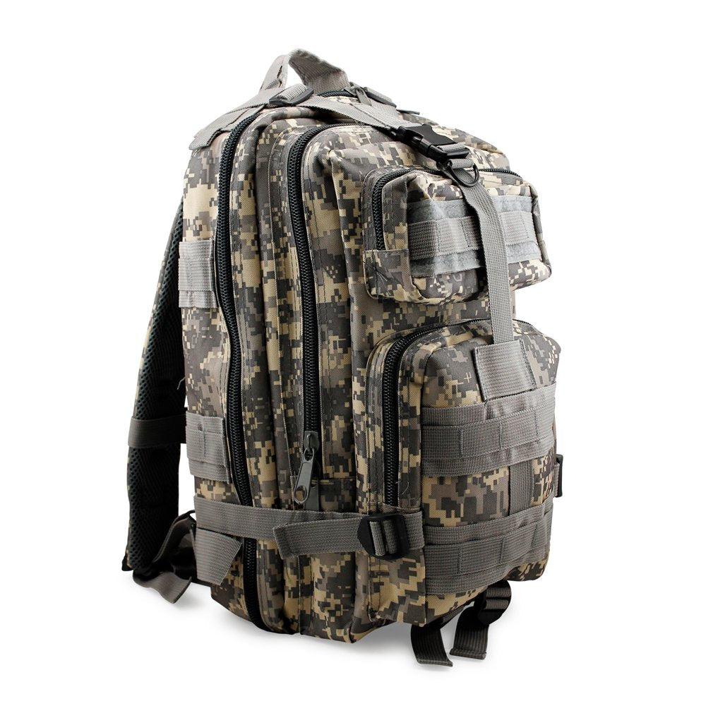 GEARONIC TM Vintage Mens Canvas Backpack Camping Travel Hiking Bag Sports Rucksack Schoolbag