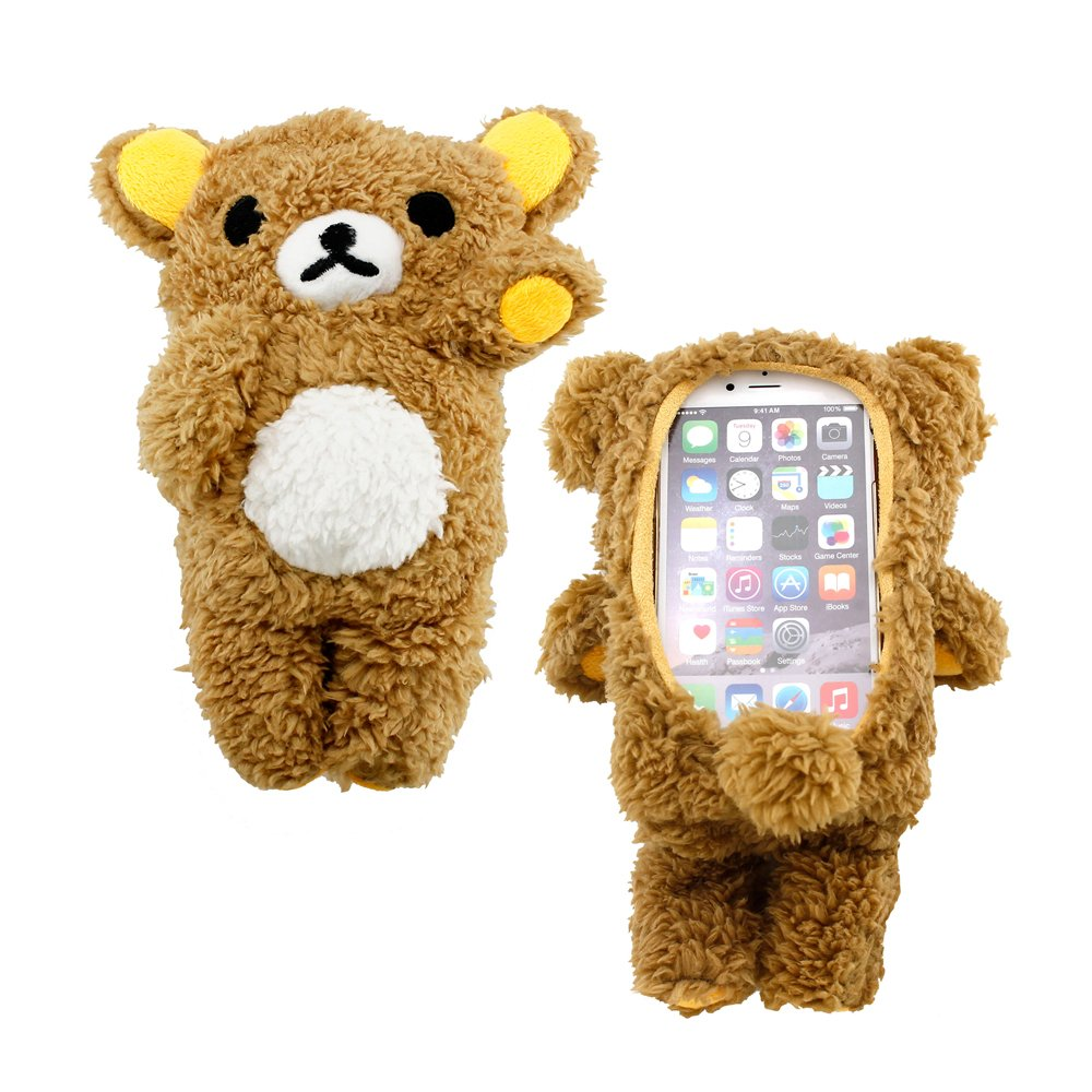 new arrival e35e1 5356b GEARONIC TM 3D Cute Cool Lovely Doll Toy Plush Cover Case Teddy Bear Case  Skin Compatible with Apple iPhone 6 Plus 5.5