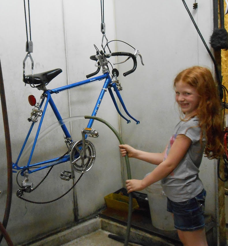 Ave cleaning bikes