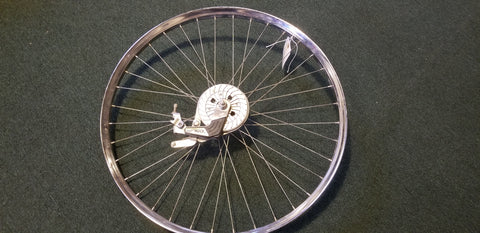 "Used - 26"" vintage rear wheel with drum brake"