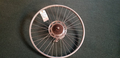 Used: 26x 1 3/8 rear wheel - freewheel