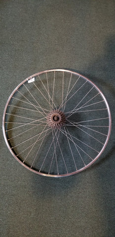 Used: 700c rear wheel. 5 speed free wheel QR