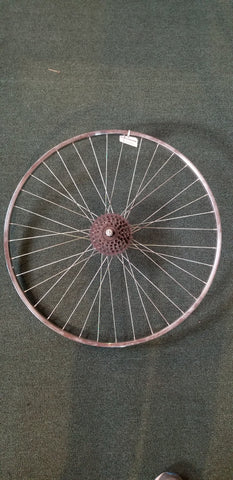 Used:27x1 1/4 steel rear wheel