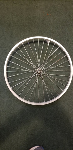 "Used: 26"" alloy front wheel. Bolt on. Single wall"