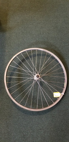 "Used: 26"" steel quick release front wheel."