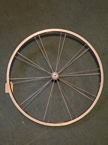 Used: front alloy quick release wheel. Rolf Satellite.