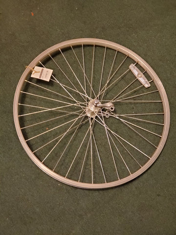 "Used: 26"" quick release front wheel. Alloy"