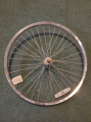 "Used: 24"" front steel bolt on wheel"