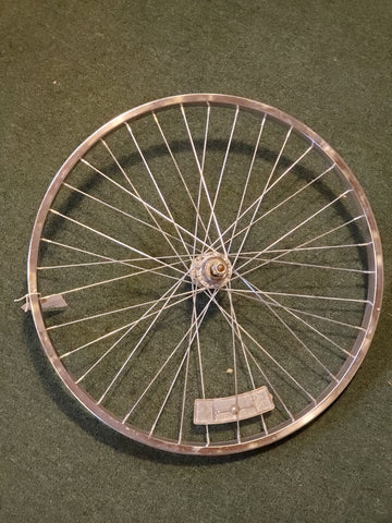 "Used: 24"" steel bolt on rear wheel. F/W"