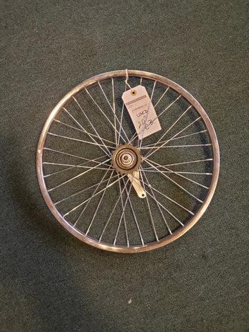 "Used: 20"" coaster breaker rear wheel. Alloy"