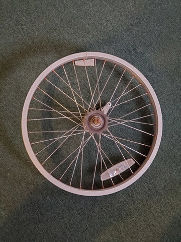 "Used: 20"" alloy coaster brake wheel"