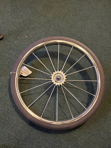 Exercise bike front wheel