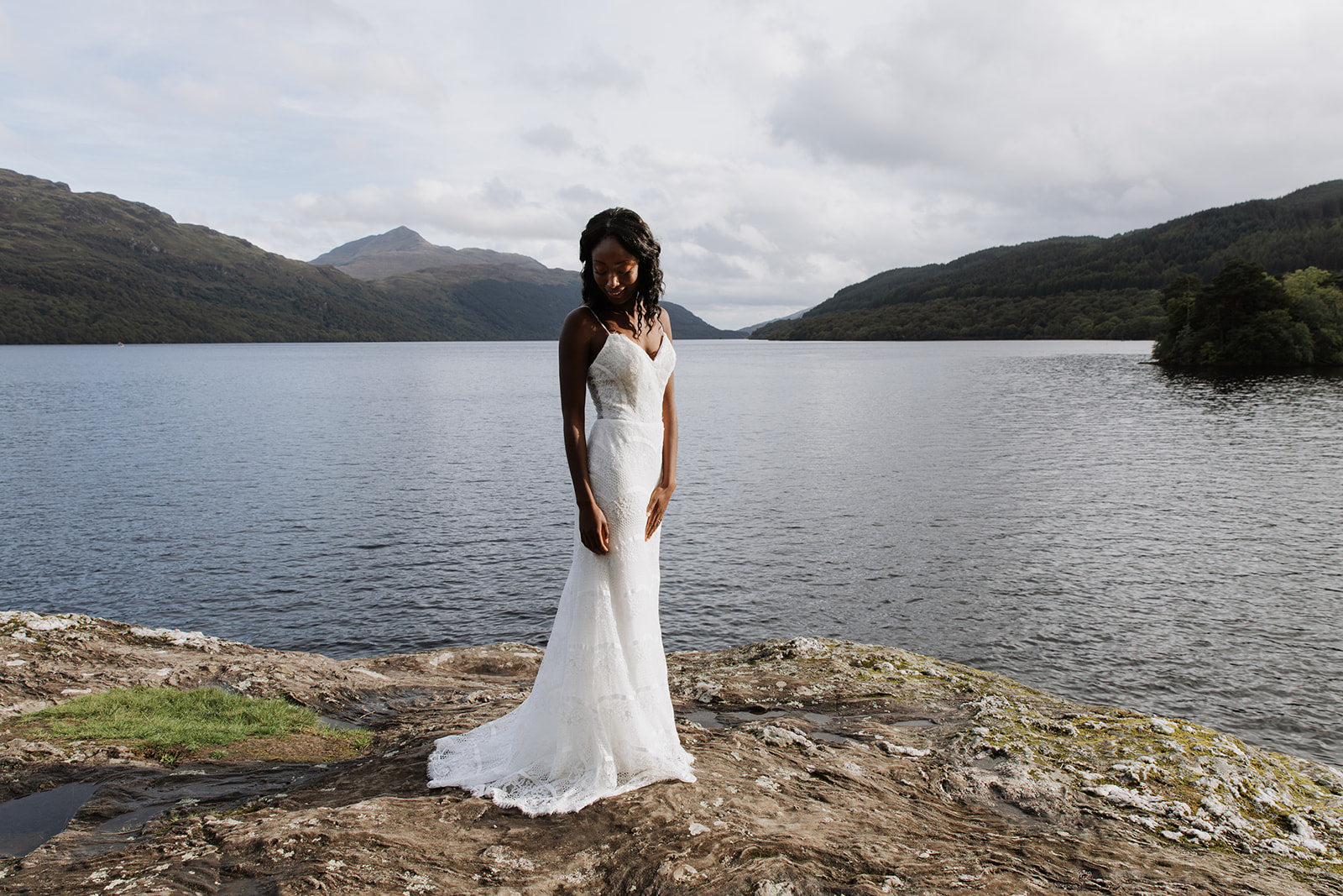 Wedding dress style shoot in Scotland