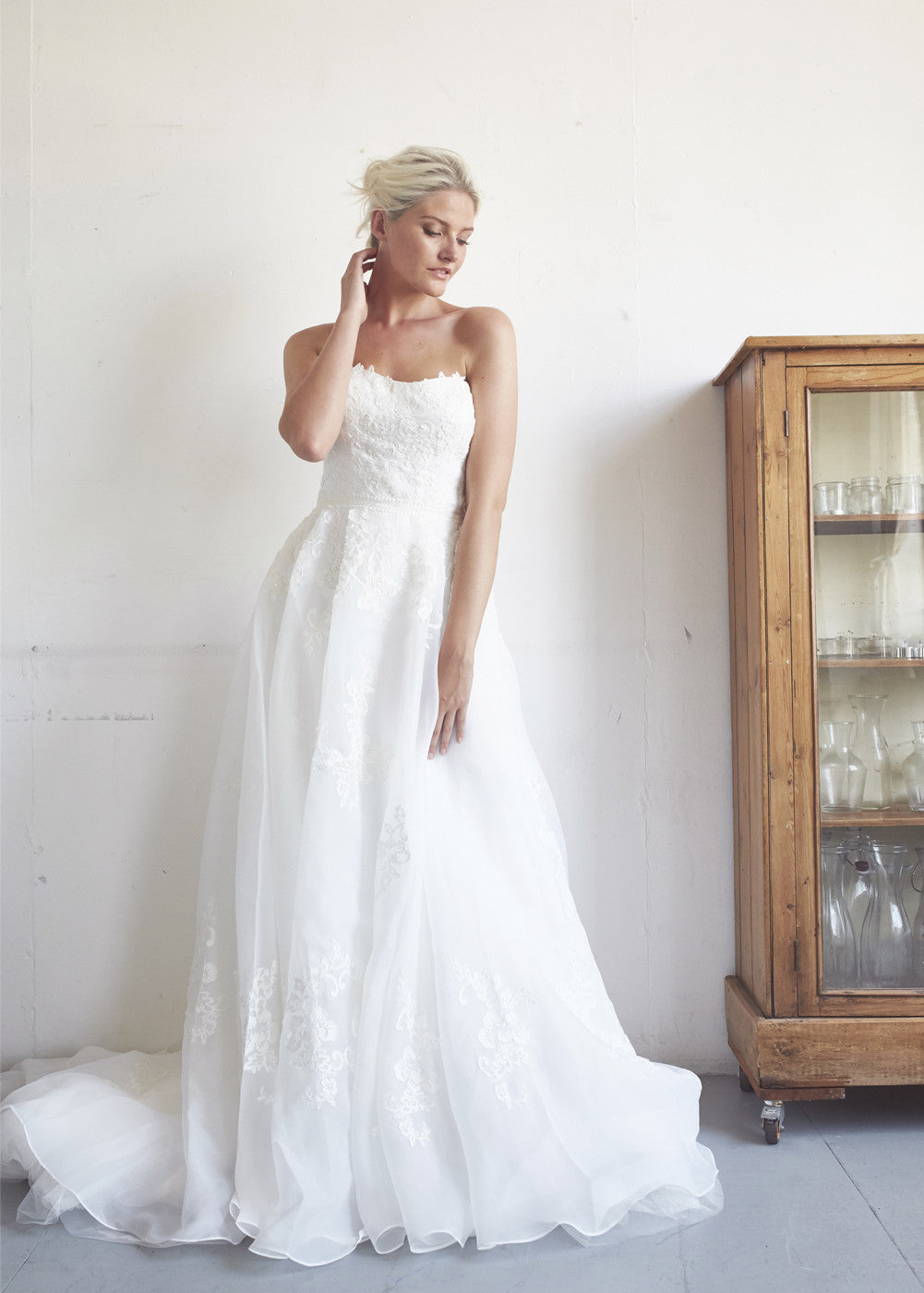 A-line Organza Wedding Gown