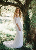 Minimalist Wedding Dress with Separate Sleeves