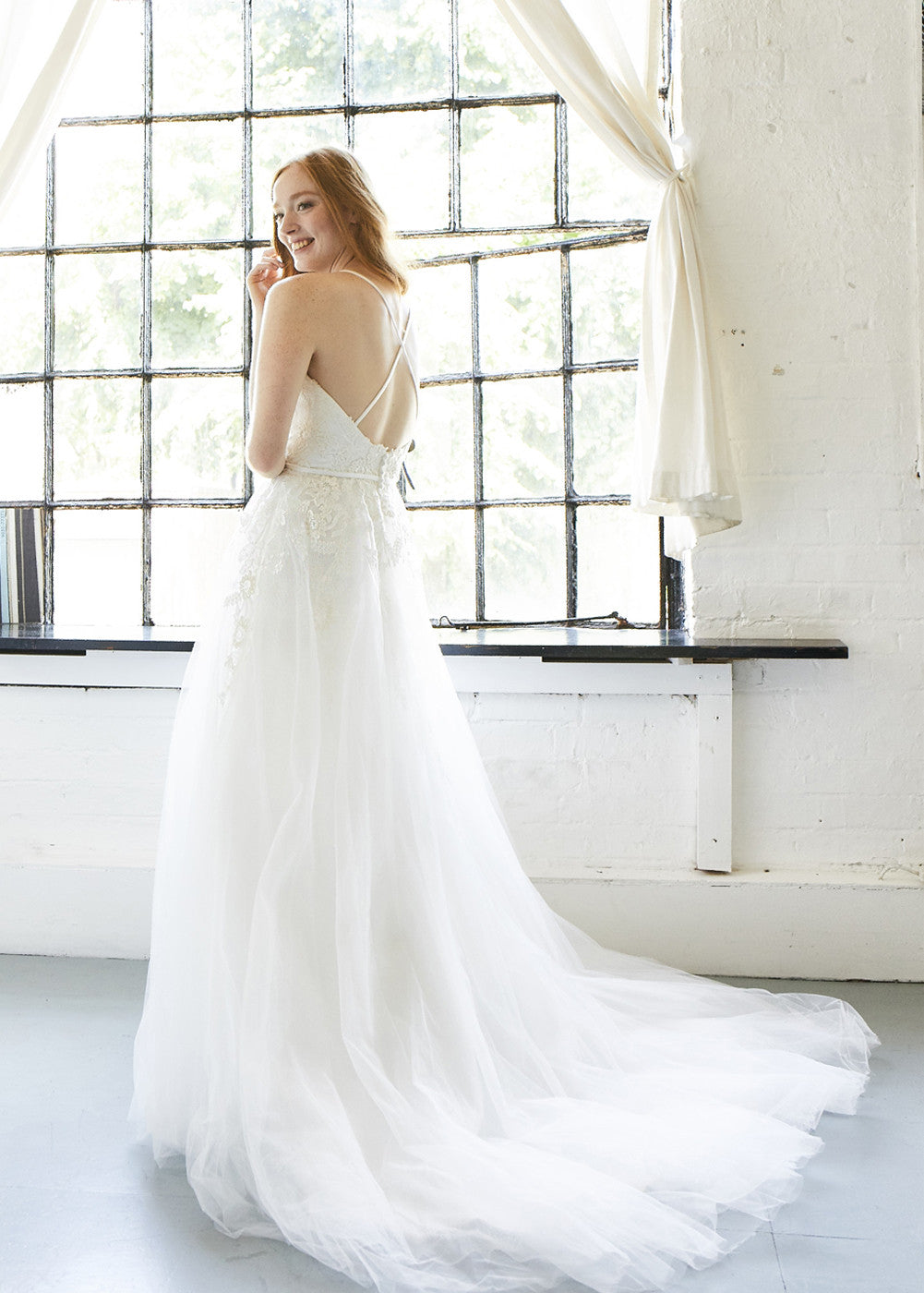 Cross Straps A-Line Wedding Dress