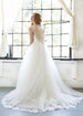 Cross Straps A-Line Wedding Dress Aneberry Back