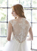 Cross Straps A-Line Wedding Dress Aneberry Back Close Up