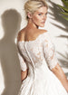 Off-Shoulder Ball Gown Wedding Dress