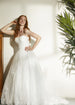 Pleated Wedding Gown With Lace Skirt