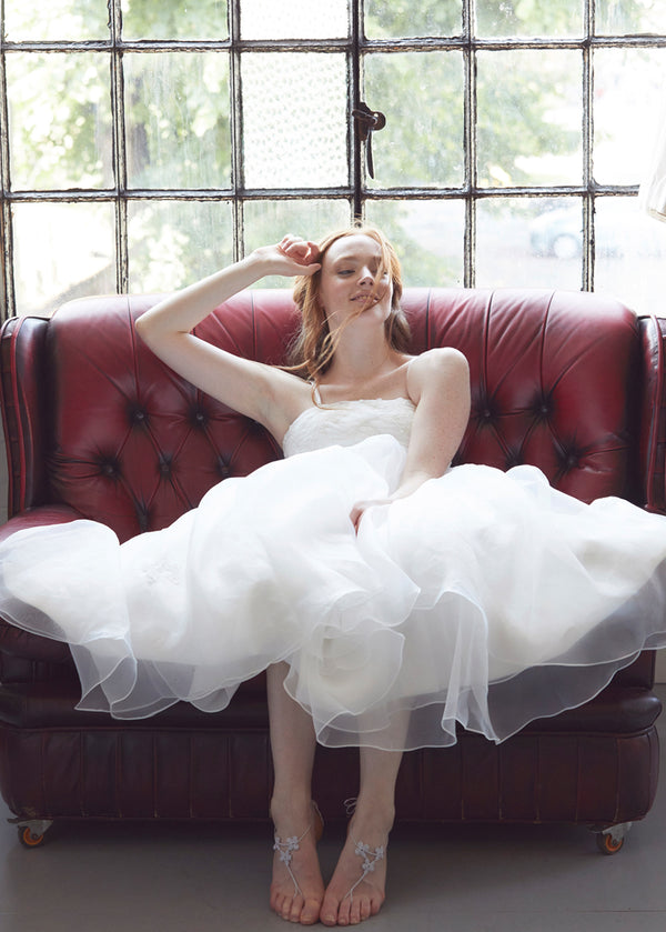 Short Wedding Dress with straps Aneberry Sit
