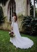 V-Back Chiffon Wedding Dress