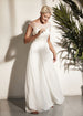 Vintage Style Chiffon Wedding Dress With a Low Back
