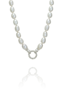 WHITE PEARL CIRCLE NECKLACE