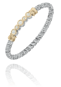 Five Circle Diamond Bar Bracelet
