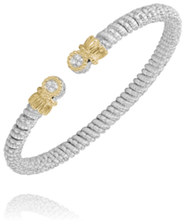 Round Diamond Open Bracelet