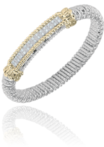 Double Row Diamond Bar Bracelet